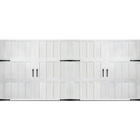 Pella Carriage House Series 192 In X 84 In Insulated White Double Gara Double Garage Door Garage Doors Double Garage