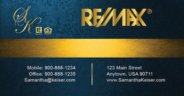 Remax Gold Logo Business Card Template New Luxury Collection From Www Printifycards Business Cards Online Realtor Business Cards Real Estate Business Cards