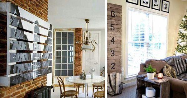Decorar con pallets paneles decorativos y separadores de - Decoracion con paneles ...