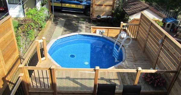 Patio de piscine hors terre verret 1 home pool deck pinterest patios and decking - Amenagement piscine hors terre ...