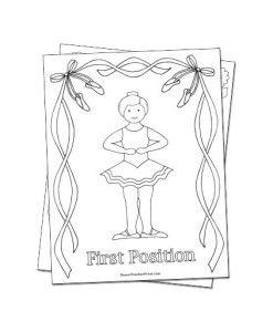 Reproducible Ballet Coloring Sheets Digital Dance Coloring