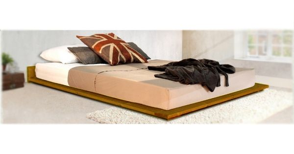 The Vanessa Timber Bed Frame Is A Low Lying Bed That Sits