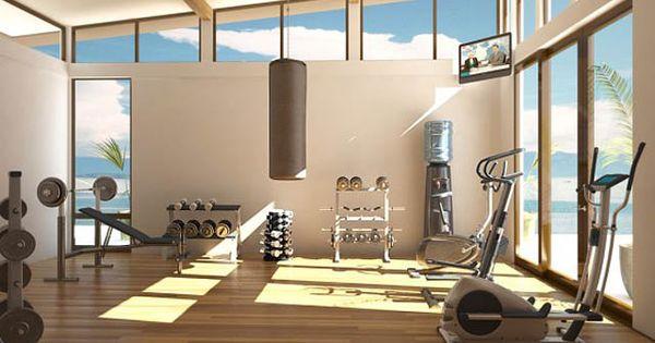 Dream home gym. Interior. Exotic Home Gym Room Ideas and Tips Design: