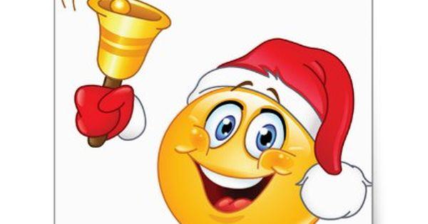 Christmas Sticker With Imogi Santa Claus Square Sticker Zazzle Com In 2021 Christmas Emoticons Funny Emoticons Smiley Emoji