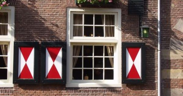 The window shutters (luiken), like seen here, are very typical Dutch ...
