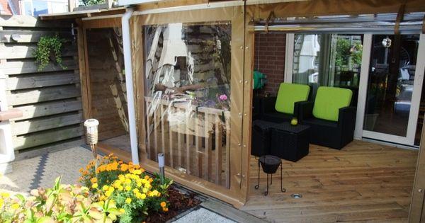 Verandazeil op maat gemaakt veranda 39 s en raamzeilen pinterest kamperen ontwerp en decoratie - Decoratie tuin exterieur ontwerp ...