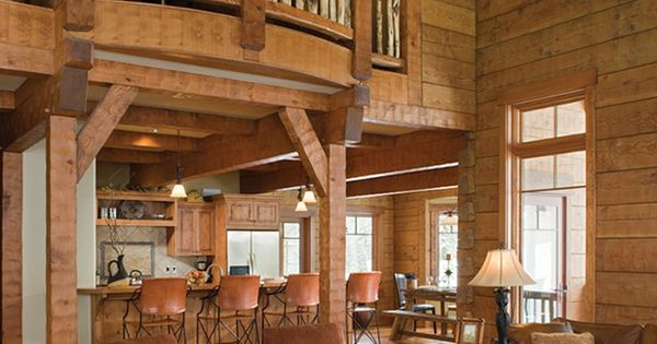 Log cabin interior... My dream mountain home... I also have a dream