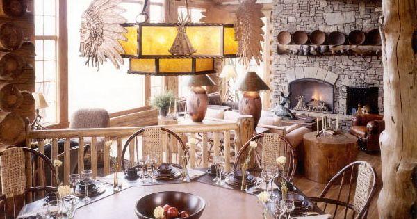 forest ledge custom log home by architect eliot goss. Black Bedroom Furniture Sets. Home Design Ideas
