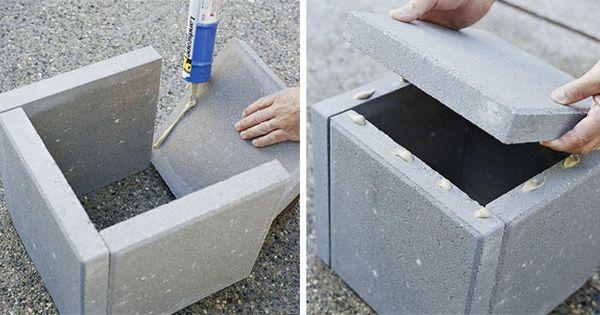 Diy Mod Cement Planters Pavers Amp Landscape Block Adhesive