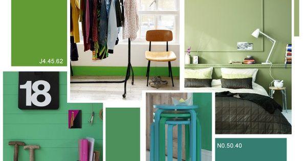 Frisse groene kleuren in je interieur met deze for Huis interieur kleuren