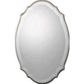 Allen Roth 30 In L X 20 In W Oval Silver Beveled Wall Mirror Oval Wall Mirror Framed Mirror Wall Silver Wall Mirror