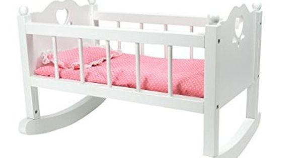 White Baby Doll Cradle Furniture By Sophia S Open Sides Heart