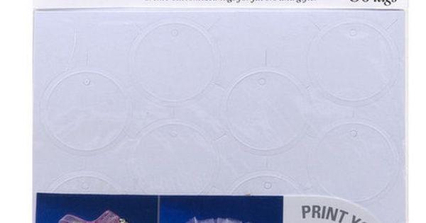 Wilton 80ct printable circle favor tags white more for Wilton print templates