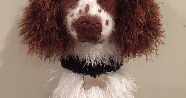 Handknit Springer Spaniel Driver Cover My Etsy Shop