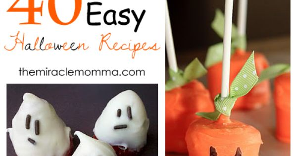 40 Easy Halloween food ideas