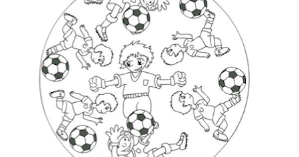 Kleurplaten Voetbal Mandala.Bayern Munchen Kleurplaat Voetbal Mandala Ausmalbilder Pinterest