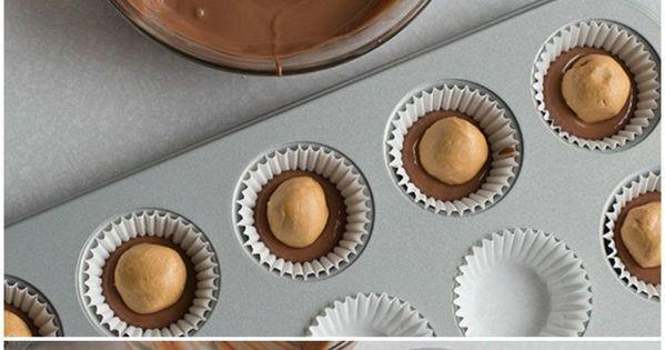 DIY Chocolate Peanut Butter Cups diy peanutbutter chocolate