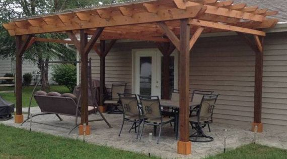 Covered Pergola Plans 12x24 Outside Patio Wood Design By