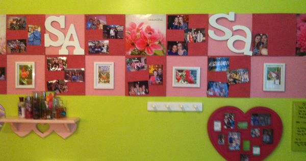 Latest Trends Cork Board Wall : This is my other daughters new bulletin board wall in her redecorated ...