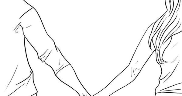 Line Drawing Holding Hands : How to draw people holding hands step embroidery