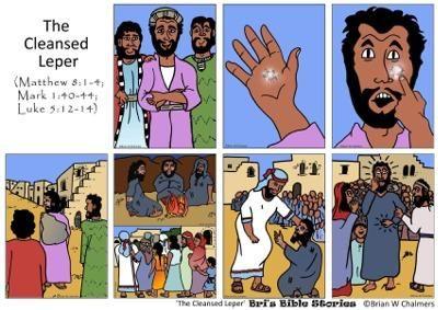 Jesus heals the leper storyboard