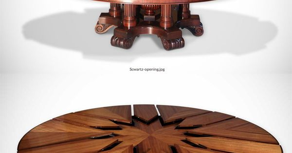 The Fletcher Capstan Table Expands By Simply Spinning