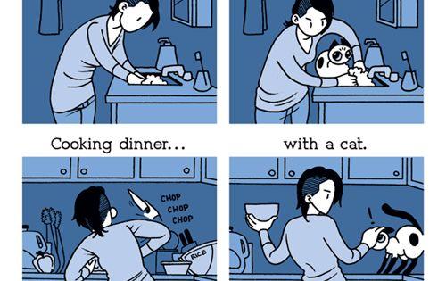 La vita 'con' e 'senza' la compagnia di un gatto (io avevo