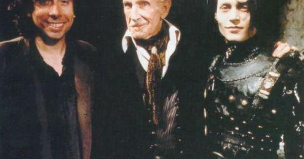 Tim Burton, Vincent Price, Johnny Depp. I ADORE this photo. Plus, Edward