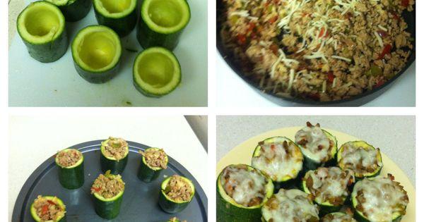 Meat, Tomato, And Mozzarella Stuffed Zucchini Cups Recipe — Dishmaps