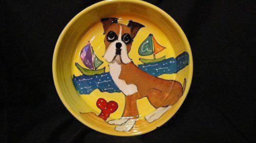 Baby Boxer Dog Bowl Personalize Ceramic Dog Bowl Boxer Ceramic Dish Boxer Dog Bowl Boxer Lover Gift Boxer Personalize Bowl