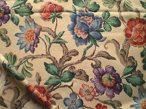 Vintage 1940 S Rare Sanderson Linen Union Fabric Jacobean Ebay
