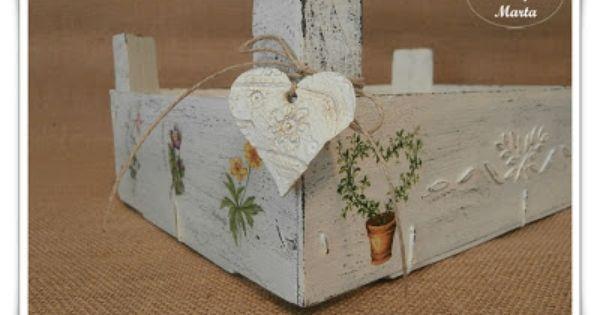 Las manualidades de marta caja de fresas reciclada casa - Cajas de fresas decoradas paso a paso ...
