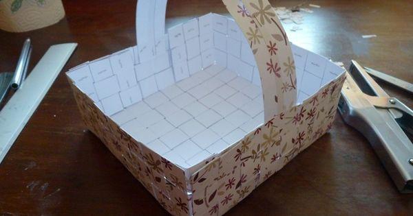 fiche pour fabriquer un petit panier garnir en toute. Black Bedroom Furniture Sets. Home Design Ideas