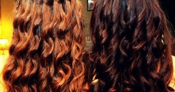 curls and waterfall braid prom hair