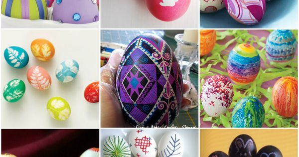 More Easter egg decorating ideas