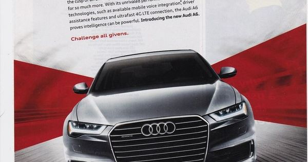 AUDI A6 2015 magazine photo print ad clipping ...