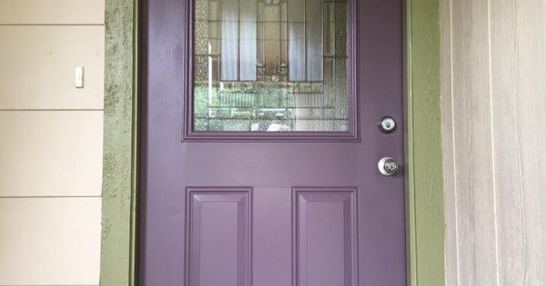 Our Purple Front Door Sherwin Williams Quot Expressive Plum
