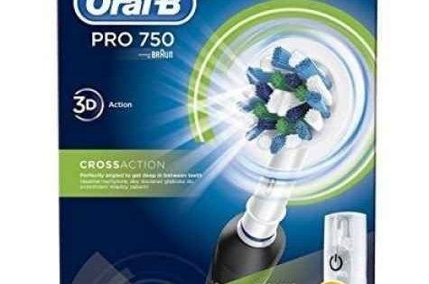 Brosse à Dents électrique Oral B Pro 750 Crossaction Noir Bricoomarket Oral B Electric Toothbrush Oral