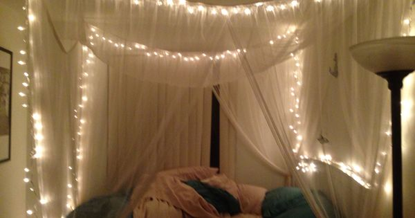 twinkle lights for bedroom twinkle lights in canopy bed bedroom pinterest beds 17654 | ff7b1ee823bb6cd1a6f18872d14b2d4b