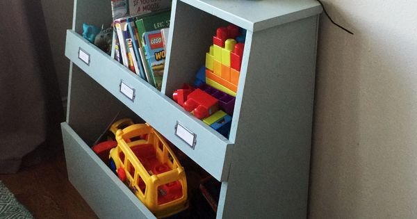 Bookshelf Storage Chest Kids Toy Box Plastic Play Room: Build A Toy Storage Bin Box With Cubby Shelves