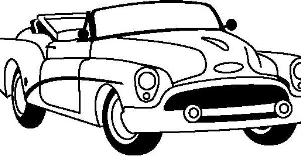 car corvette 1953 coloring page