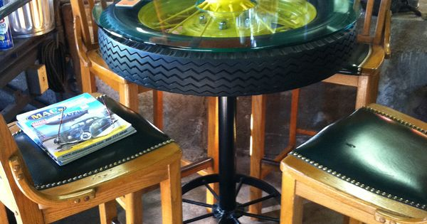 John Deere Cafe Table : John deere tractor wheel bar table courtesy
