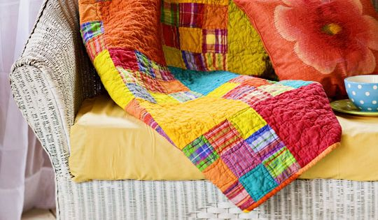 "Love these bright colors Free ""Mango Tango"" Quilt Pattern"