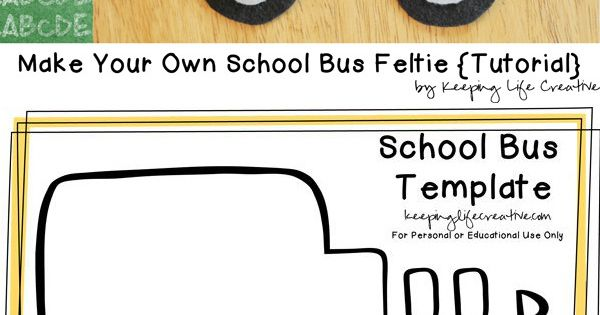 Crafts for Kids | FREE printable school bus template for back-to-school craft,