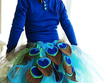 DIY Halloween Costumes Peacock Tutu Tutorial