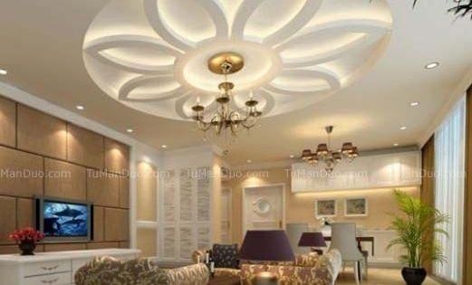 10 false ceiling modern design interior living room for False roofing designs