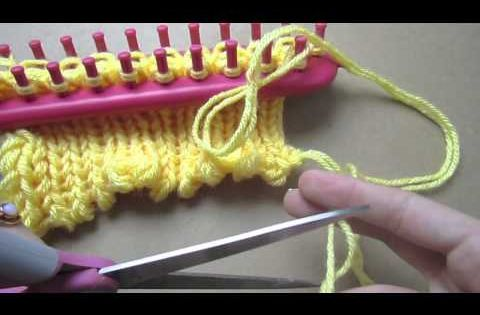 Knitting on Long Looms - YouTube - Instructions for casting on, knitting and ...