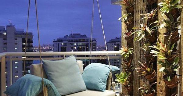اطلاله بلكونه شقه بيت بيوت حديقه حدائق افكار Apartment Balcony Decorating Balcony Decor Home Decor