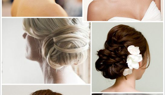 Various updo wedding formal hairstyle pins romantic hair prom bridesmaids bridal style