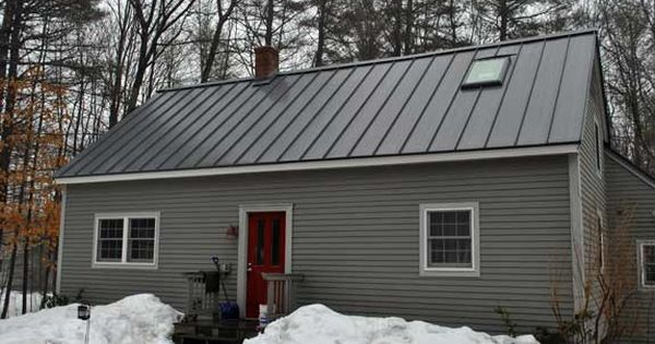 Gray House With Metal Roof Exteriors Pinterest Grey